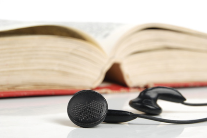 book and earphone